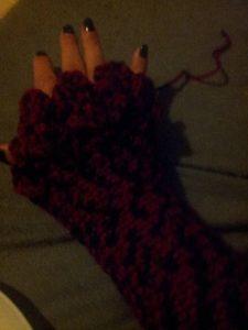 Crochet Dragon Scale Gloves